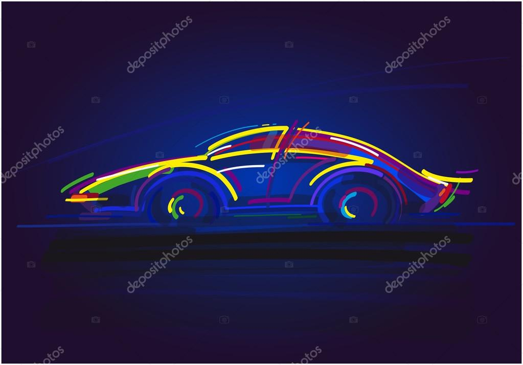 Speeding Racing Car