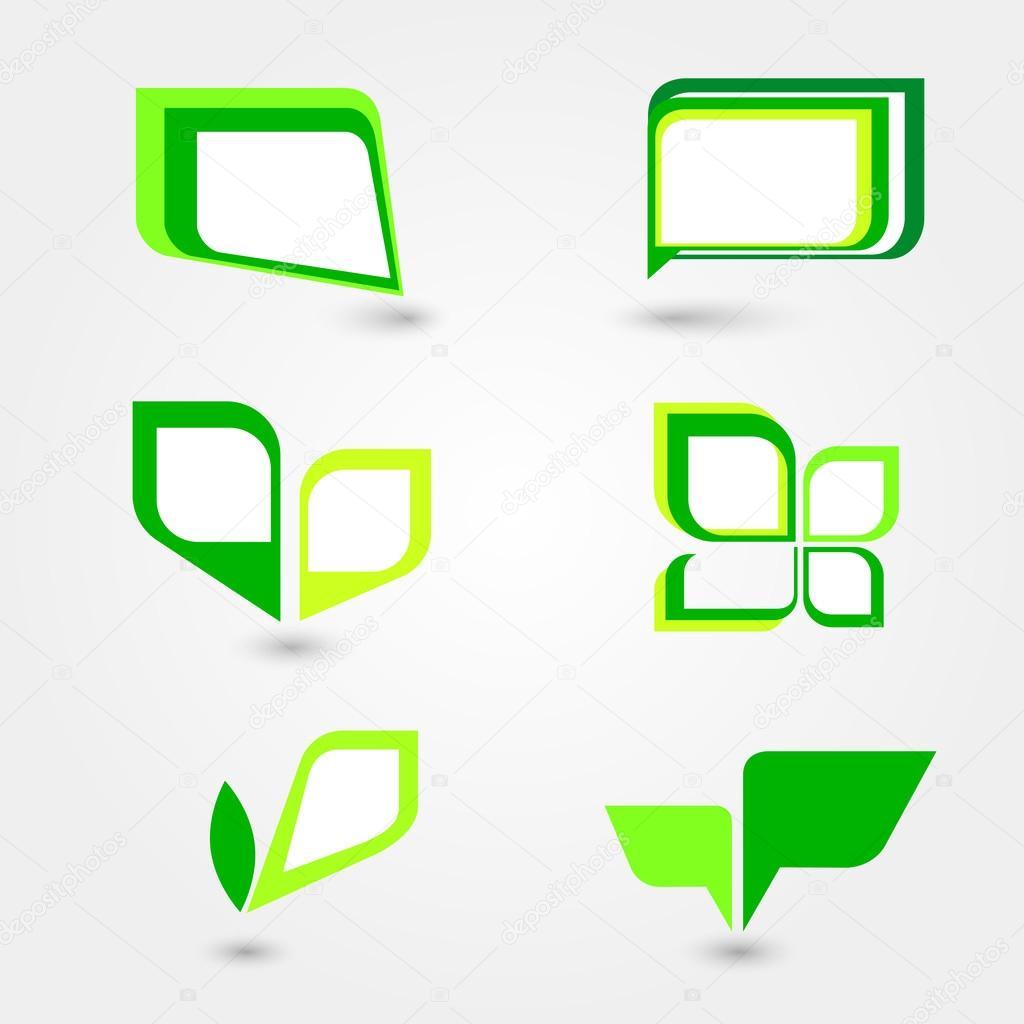 Conjunto de Marcos verdes — Vector de stock © slay19 #99405048