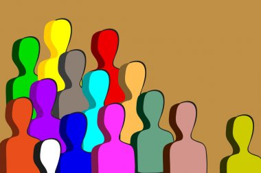 Vector color Illustration group of people