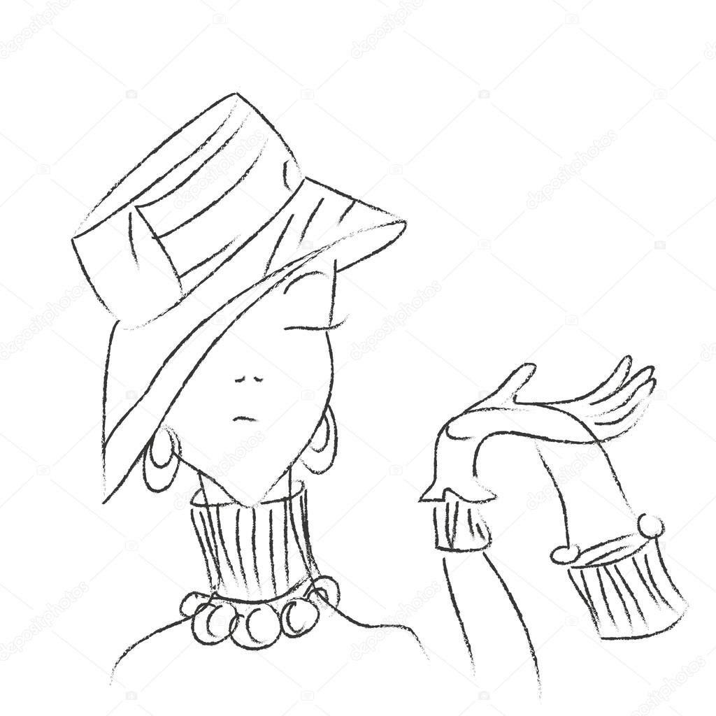 Risultati immagini per signora con cappello