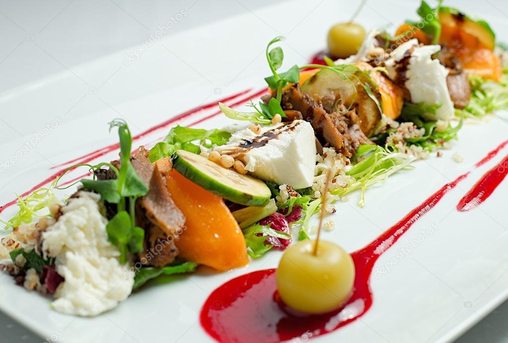close up gourmet salad stock photo revalent 92260220