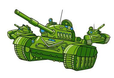 cartoon military tanks