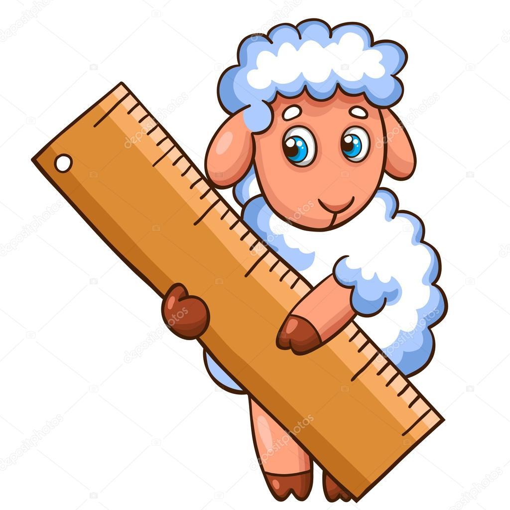 Pecore simpatico cartone animato — vettoriali stock