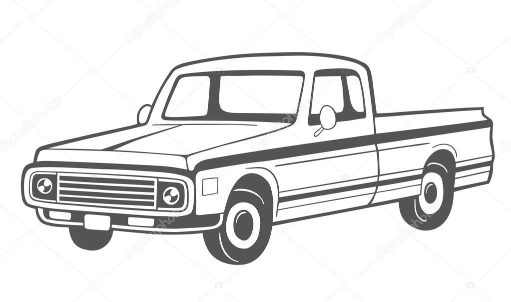 Dibujo De Camioneta Archivo Imágenes Vectoriales