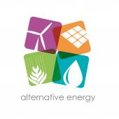 Photo Vector sign alternative energy