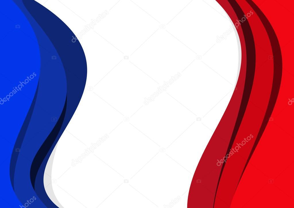 Fond Abstrait Drapeau Français Et Anglais De Vecteur Image