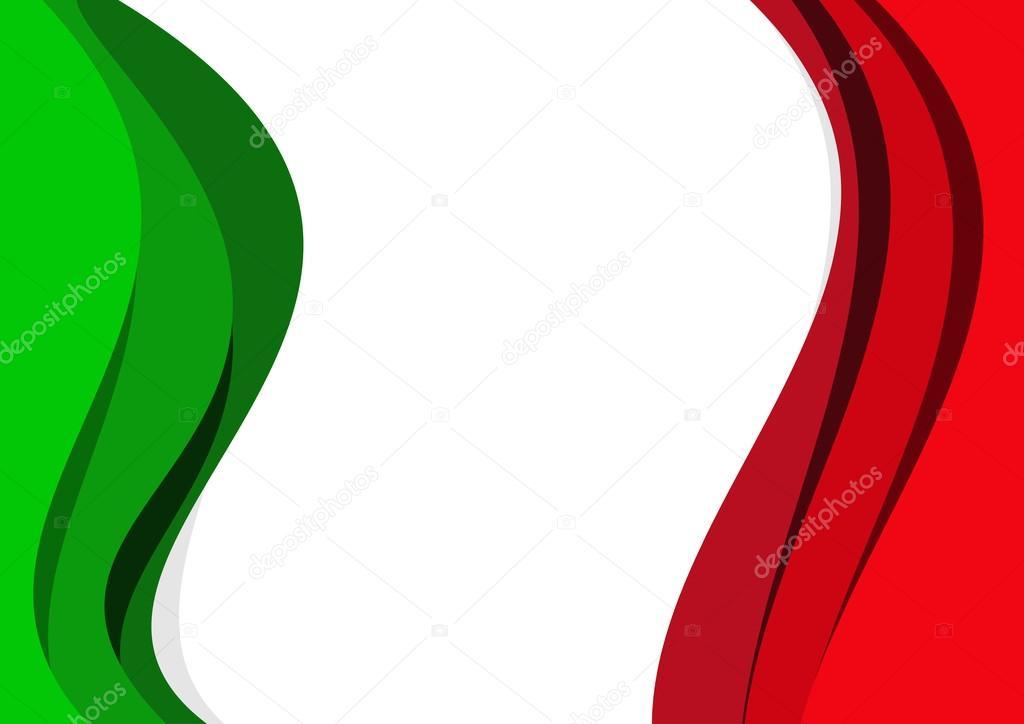 Fondo De Vector Abstracto Bandera Italiana Y Mexicana