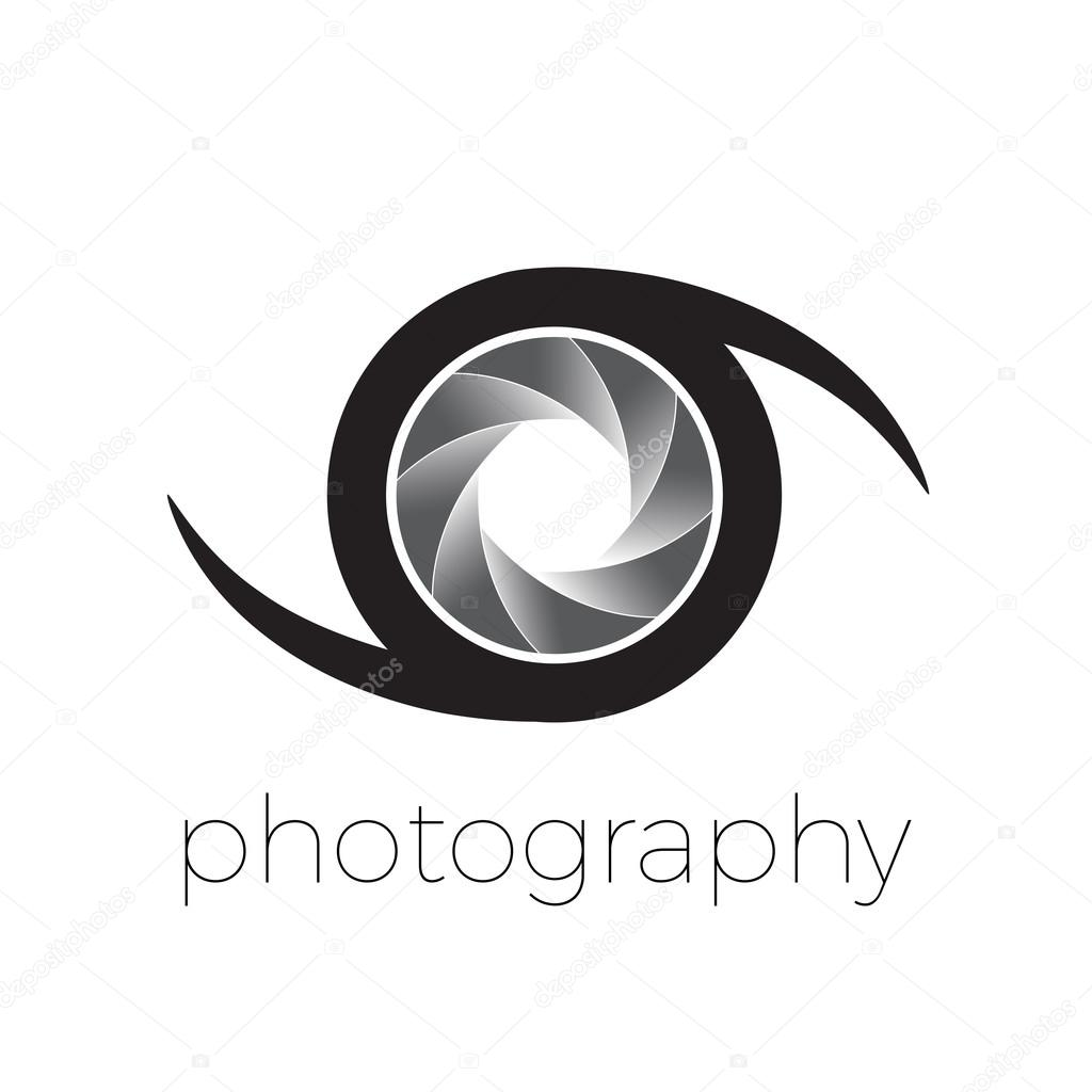 Vector icono diafragma y ojo, concepto de fotografía — Archivo ...