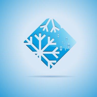 Round Vector sign Ice