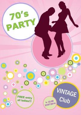 Vector invitation vintage dance