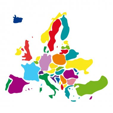 Vector drawing abstract europe map
