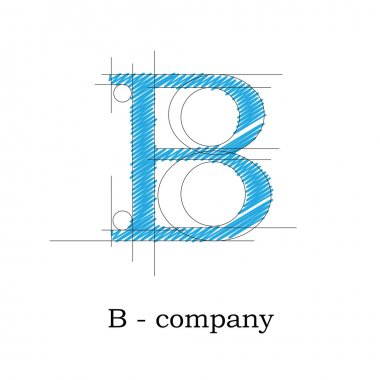 Vector sign design letter B