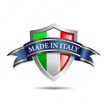 Vector shield made in Italy