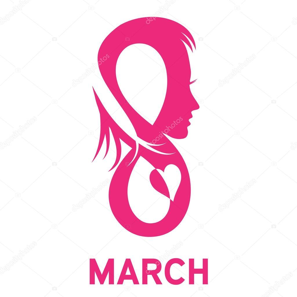 Vector Sign 8 March Womens Day Stock Vector Luckytd 94195216
