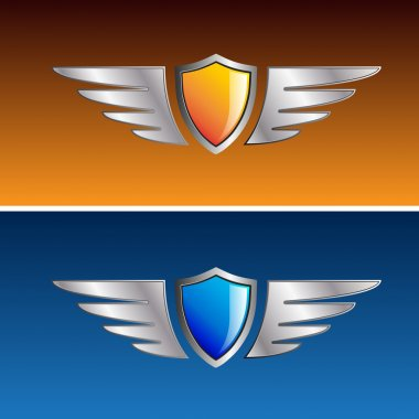 Vector sign shields and wings