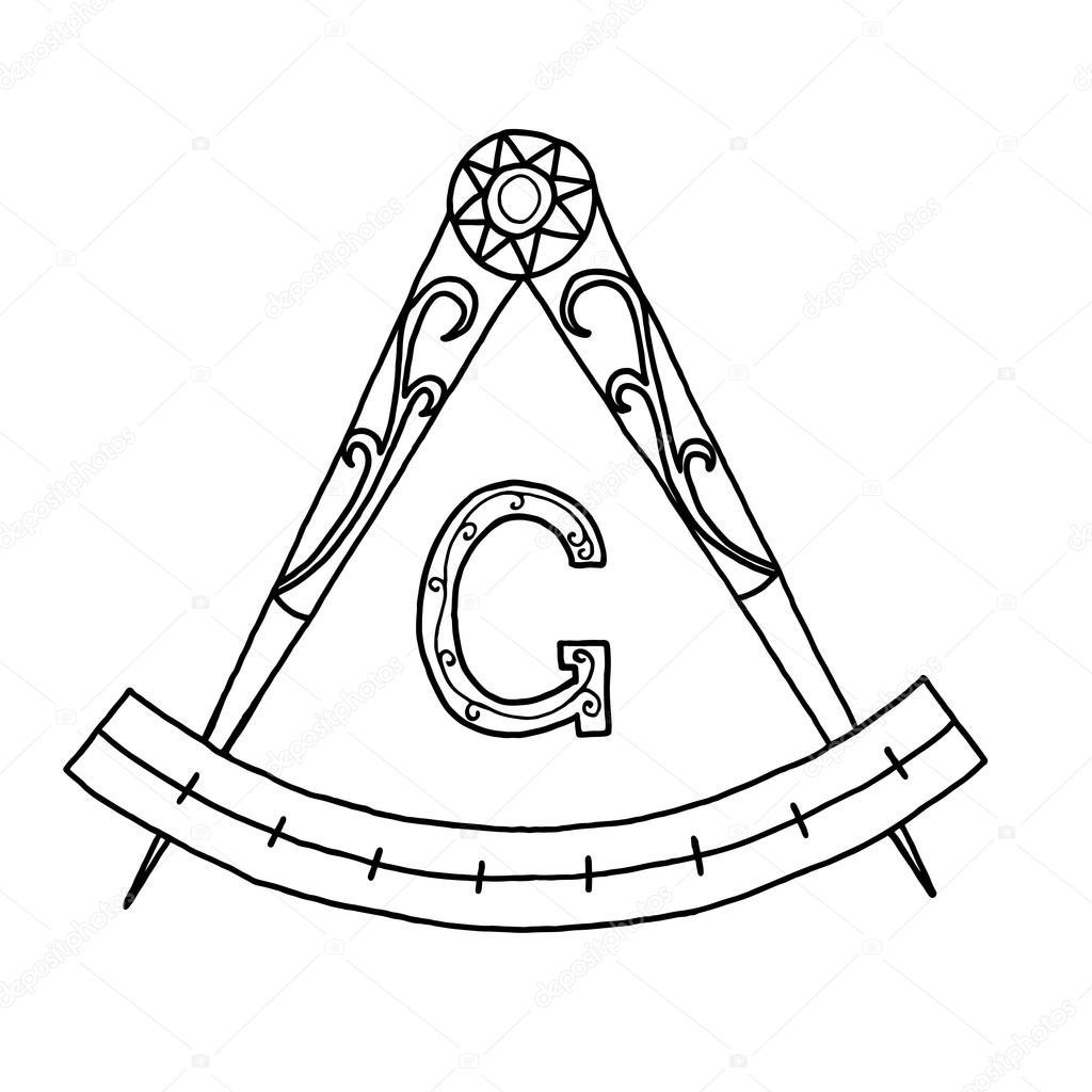 Masonic freemasonry emblem stock vector gennadiikorchuganov masonic freemasonry emblem icon logo hand drawn vector by gennadiikorchuganov buycottarizona Images