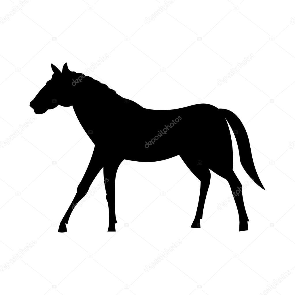 Wild Horse Silhouette Stock Vector C Gennadiikorchuganov 105972204