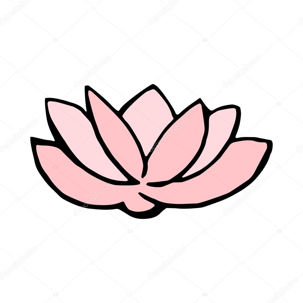 Lotus Flower Icon Isolated On White Background Stock Vector