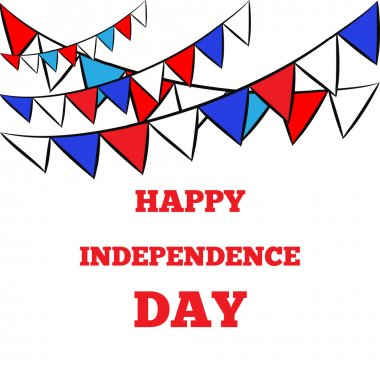 Patriotic Bunting, happy independence day, 4th july