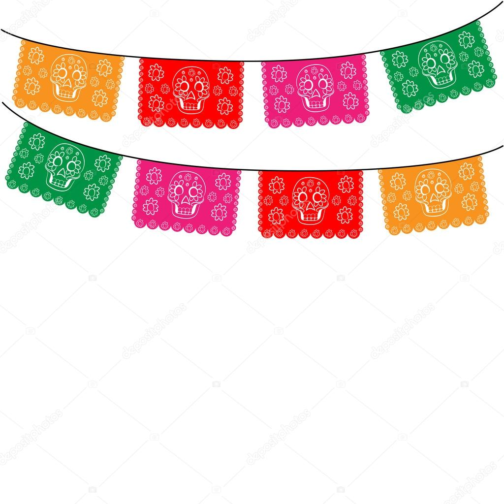 Papel Picado Invitation Template - Premium Invitation Template Design by 2 Feathers Tipi
