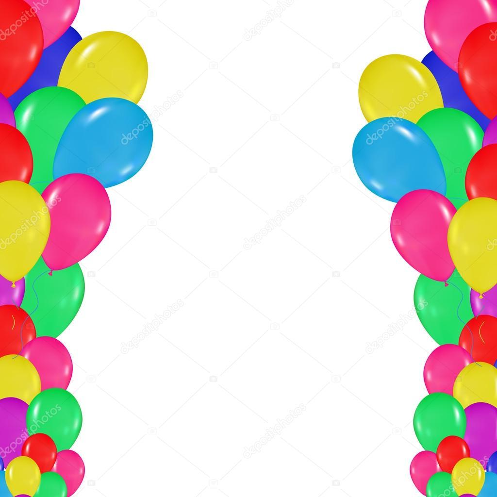 marco de globos de colores en el estilo de realismo. diseño de ...