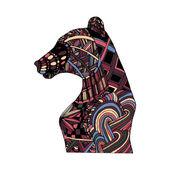 Fotografie Hand zeichnen Mehrfarben Bären gemalt Farben und Muster zentangle