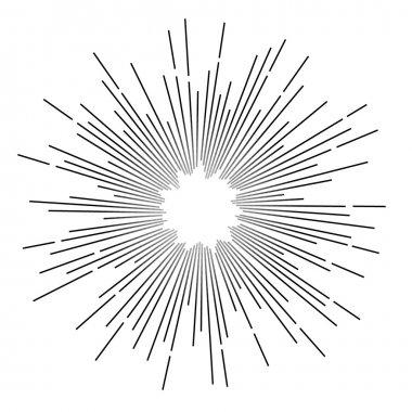 Vintage monochrome star rays. Vector