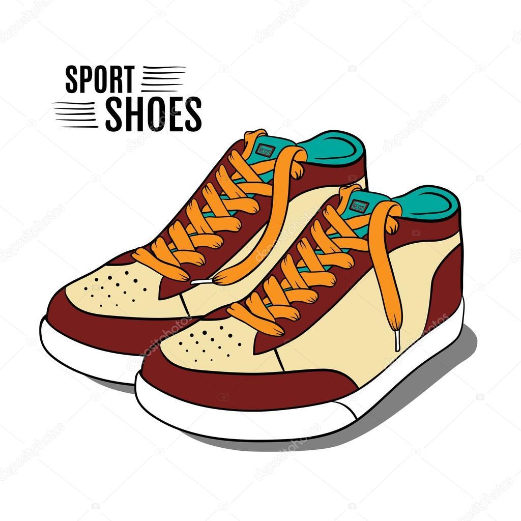 Cartoon sport shoes. V...