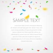 Konfety barevné pozadí s místem pro text. Vektorové ilustrace