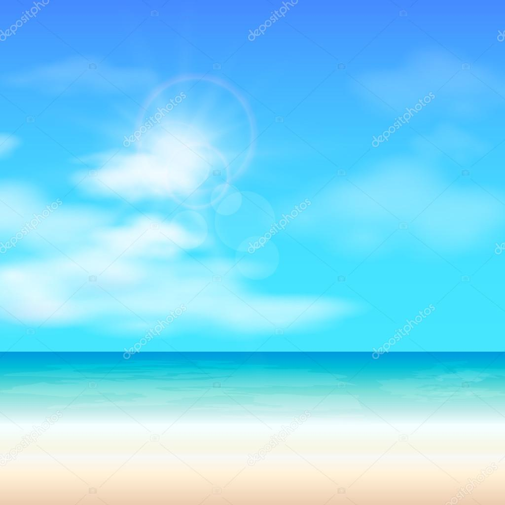 ビーチ夏背景、ベクトル イラスト — ストックベクター © kseniabravo
