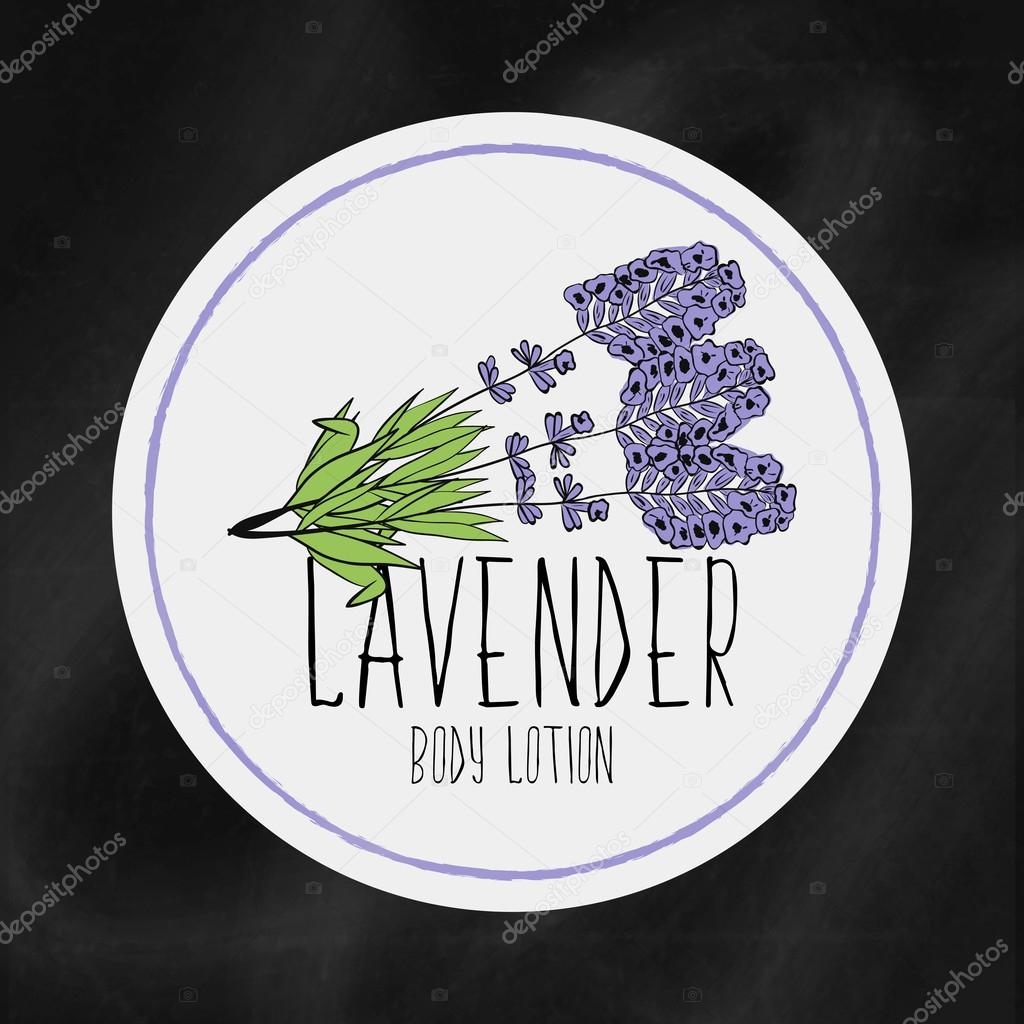 A set of labels with frames for beauty and health. Lavender moisturizing lotion for body and hands. Vector Tags