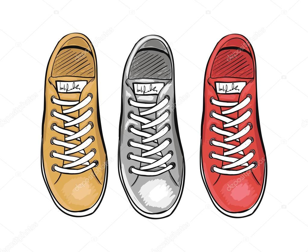 Vector Sportive Sneakers Tendenza Estate Scarpe Di La Collezione x077qwzRB