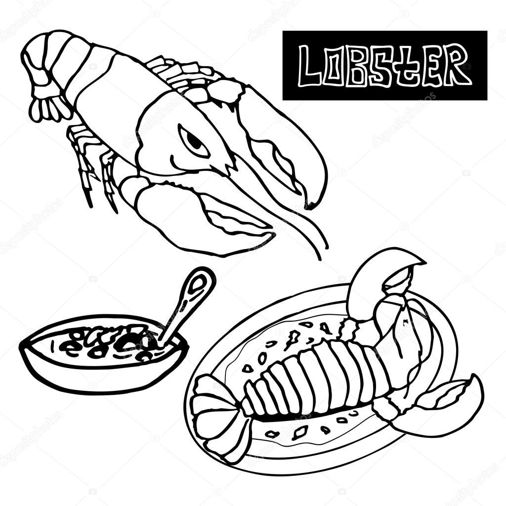 seafood lobster, the lobster bisque, delicacies