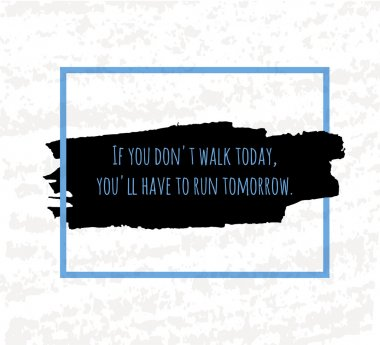 Typographic poster hand drawing in the form of quotes and phrases to raise morale and good mood are written in black ink brush in blue. Vector