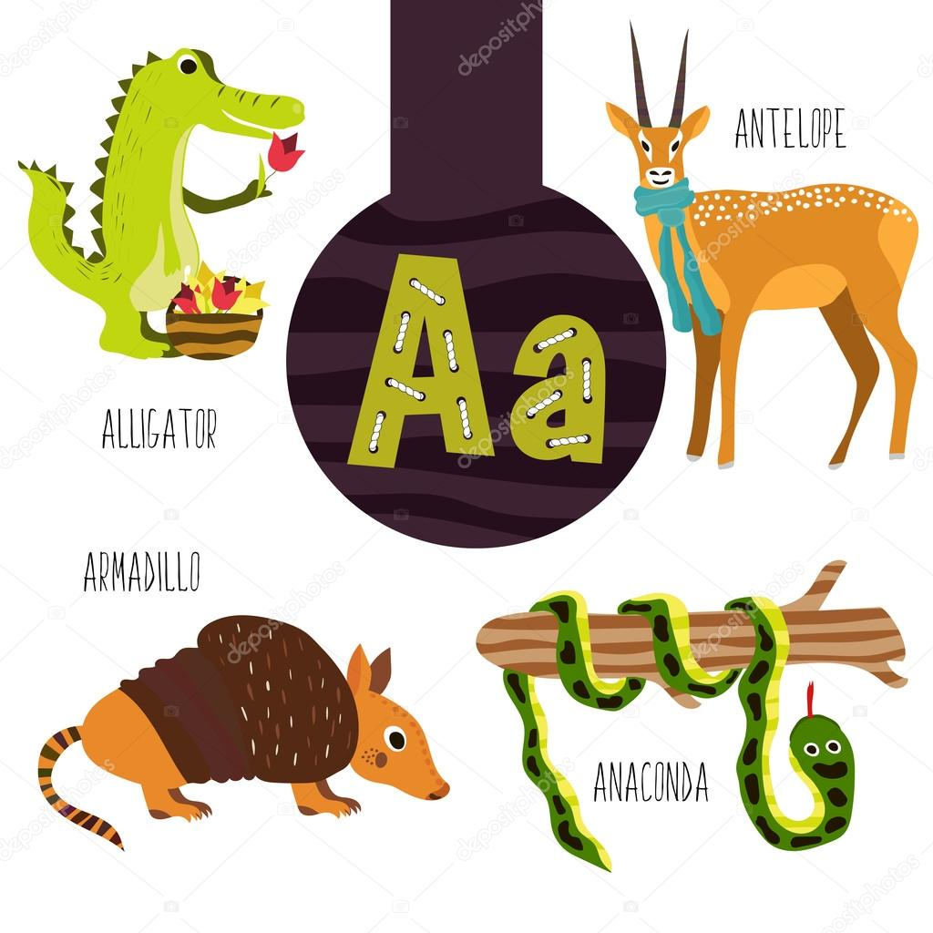Fun animal letters of the alphabet for the development and ...