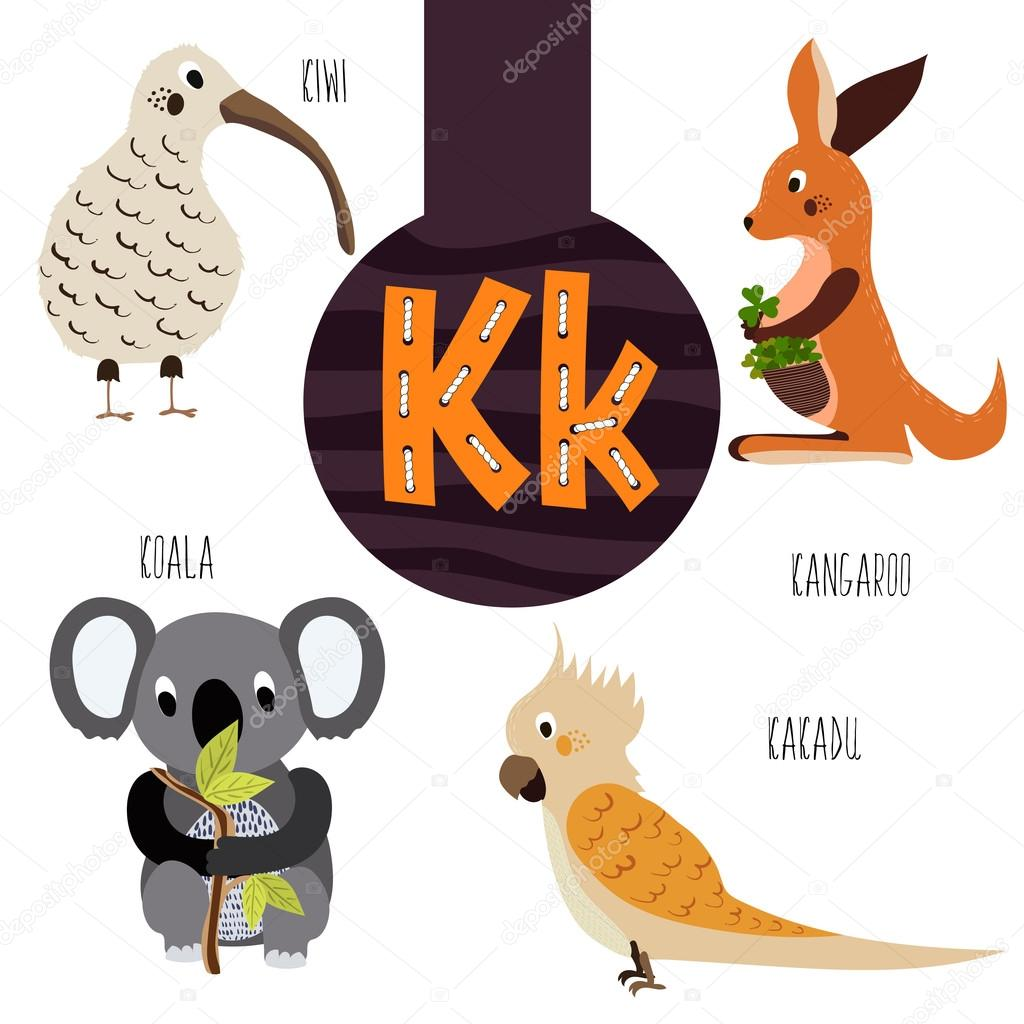 Animals that start with the letter k