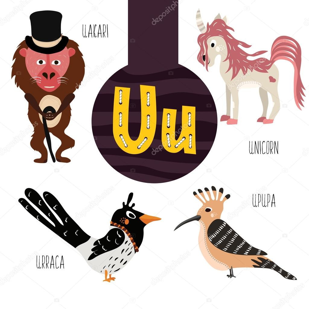Fun animal letters of the alphabet for the development and learning