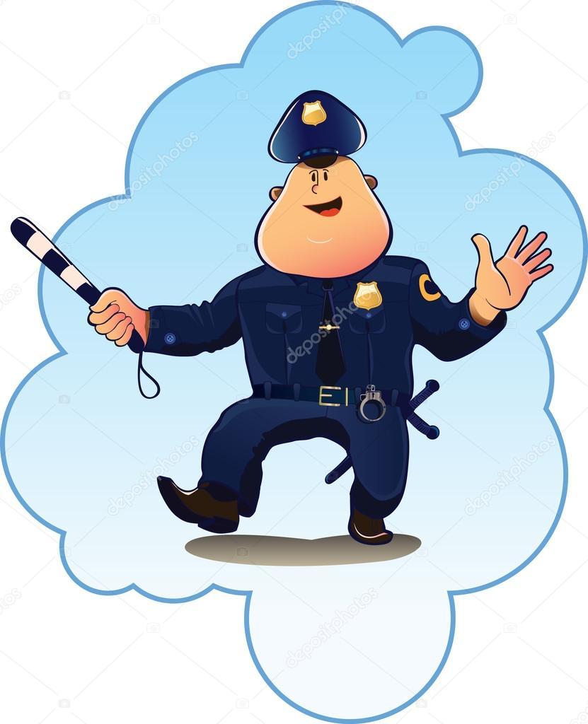 policjant policjant kreskówka obraz u2014 grafika wektorowa zaisa