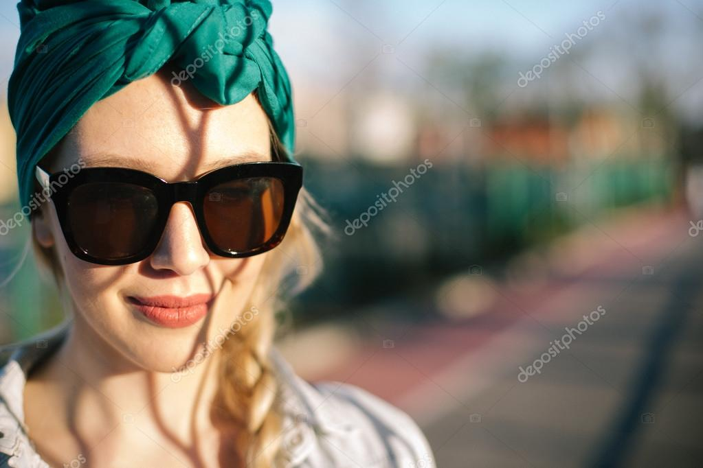 Happy woman in spring time . Young girl relax outdoors. Freedom