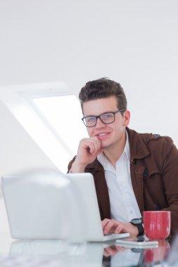 man in his entrepreneurial office space