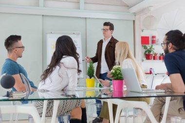 Business team work process modern office