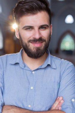 Muslim Man Attending Mosque
