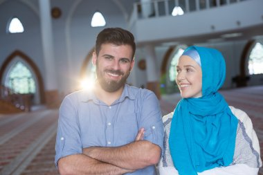 Arabic couple in mosque
