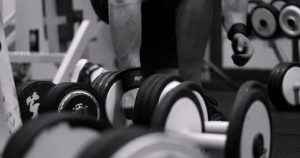 Man in training gym