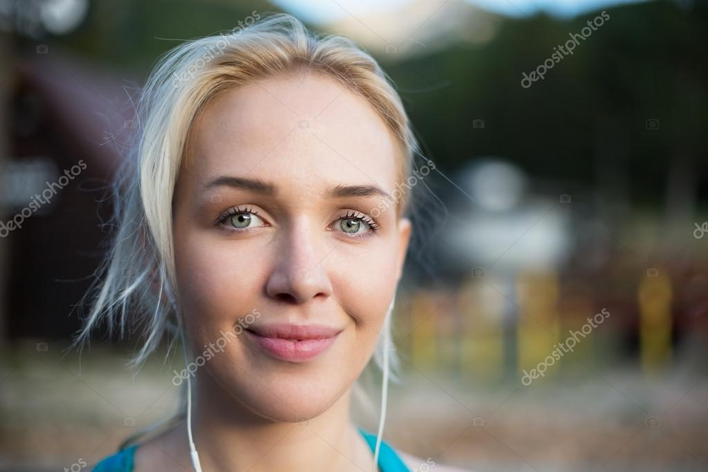 Running woman. Female Runner Jogging during Outdoor Workout in a