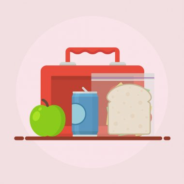 Lunch vector illustration