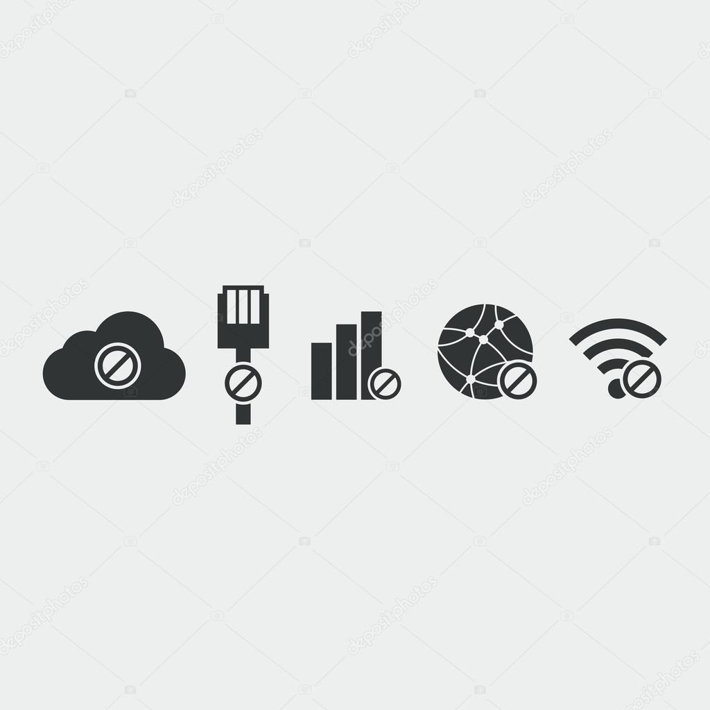 Das Symbol keine Internet-Verbindung — Stockvektor © Axsimen #104382878