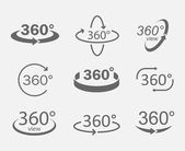 Fotografie 360 degree views icons