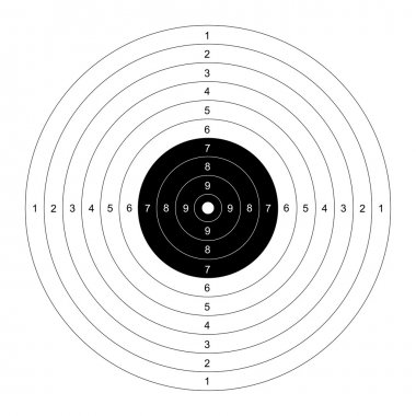 Blank target for shooting