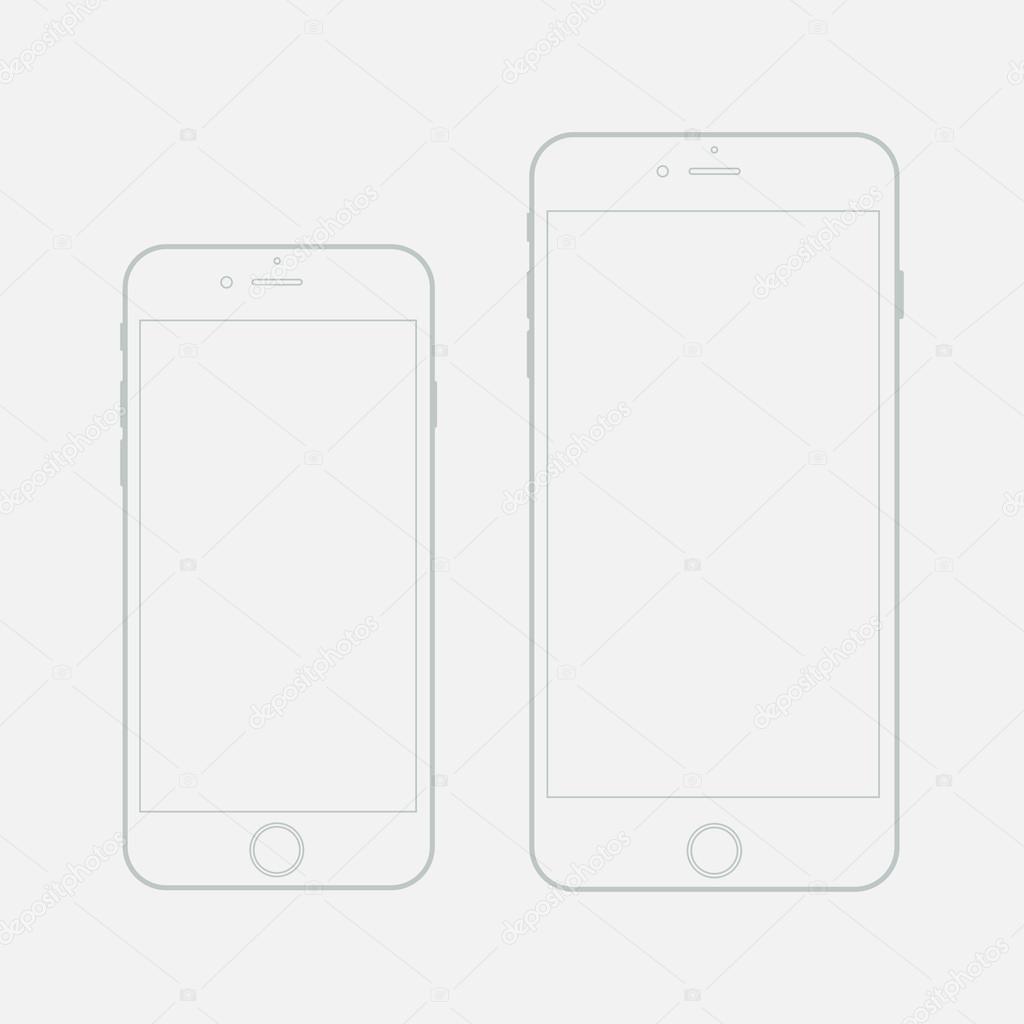 Vektor leere Vorlage Gliederung smartphone — Stockvektor © Axsimen ...